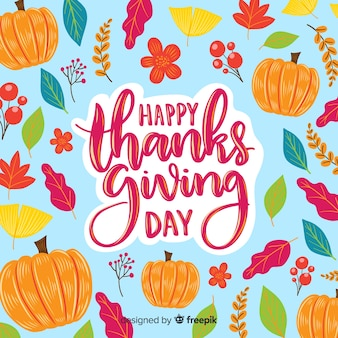 Happy thanksgiving day lettering wallpaper