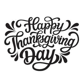 Happy thanksgiving day lettering
