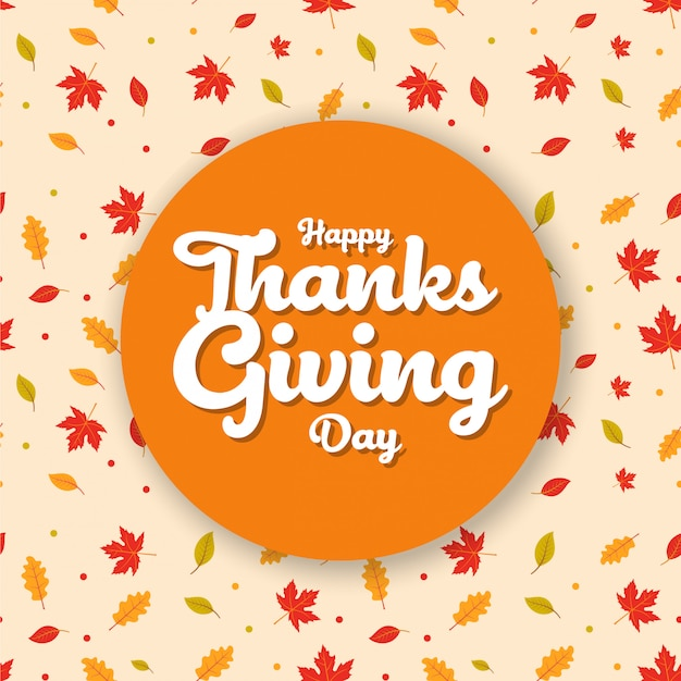 Happy thanksgiving day poster greetings pattern