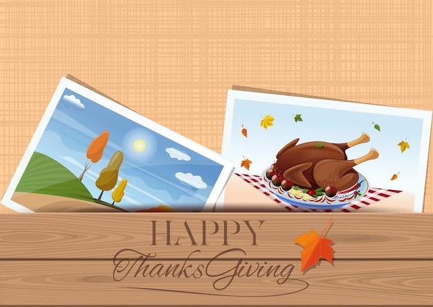 Happy thanksgiving. festive turkey for thanksgiving day.