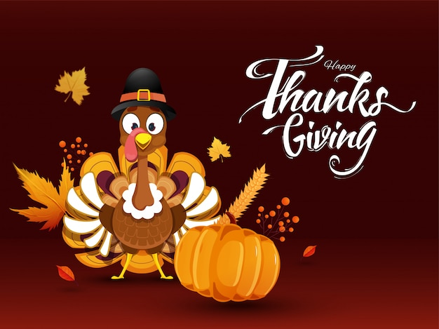 Happy thanksgiving greeting card.