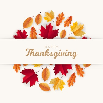 Happy thanksgiving greeting design