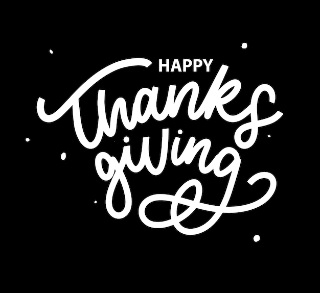 Happy thanksgiving hand lettering