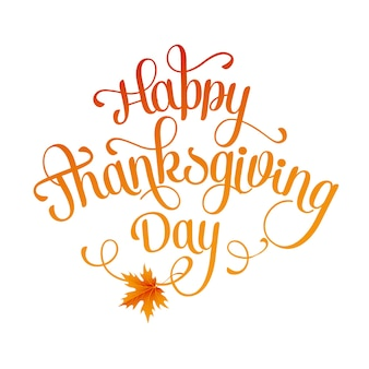 Happy thanksgiving lettering. background.