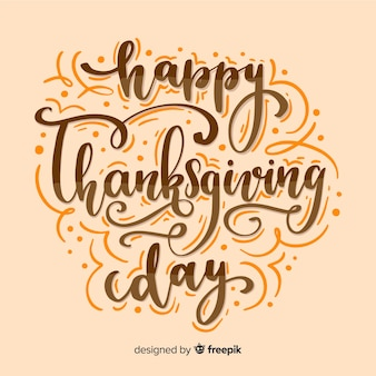 Happy thanksgiving lettering concept