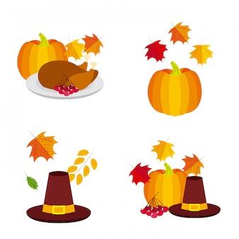 Happy thanksgiving logos