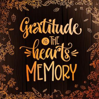 С днем благодарения - цитата. тема ужина благодарения рисованной надписи фразу.
