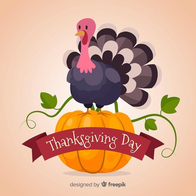Free Happy Thanksgiving Turkey Background In Flat Design Svg Dxf Eps Png Logo Svg File Free Download