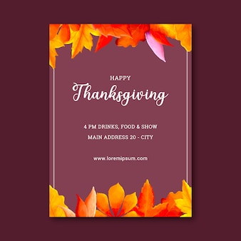 Happy thanksgiving watercolor card