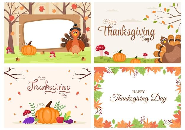 Happy thanksgiving with cartoon turkey vector illustration
