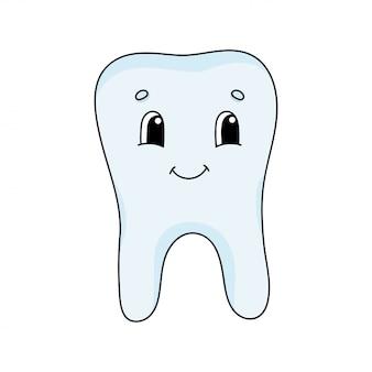 Happy tooth. cute illustration in childish cartoon .