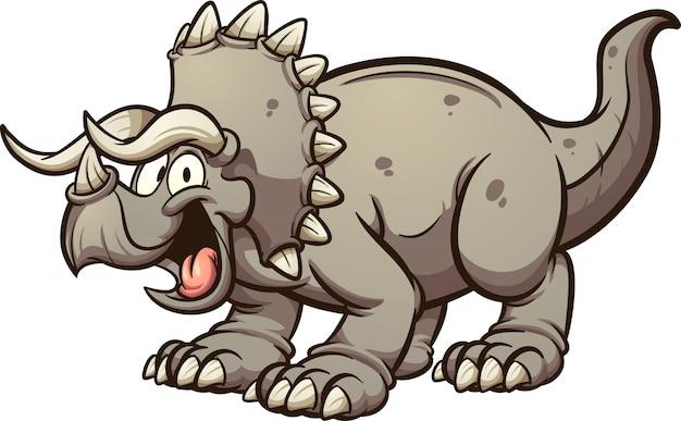 Happy triceratops dinosaur