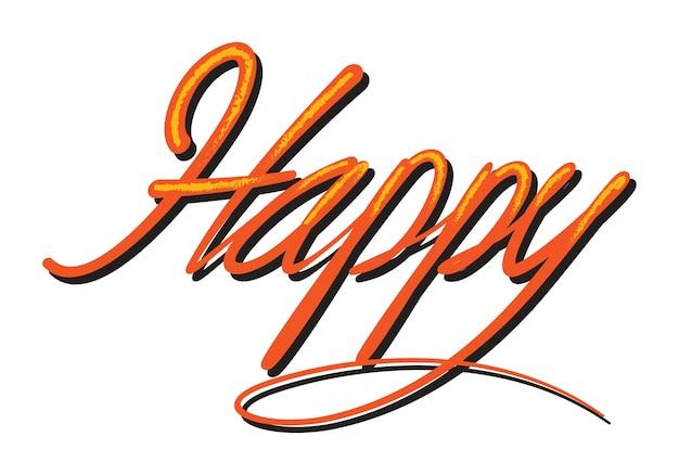 Happy typography comics style