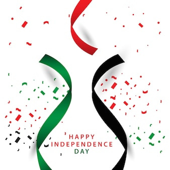 Happy uae independent day vector template design