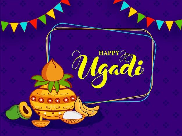 Happy ugadi celebration concept