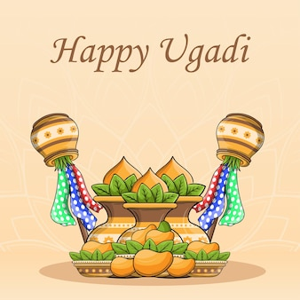 Happy ugadi concept design