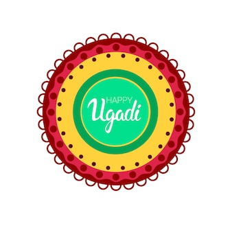 Happy ugadi gudi padwa hindu new year greeting card holiday
