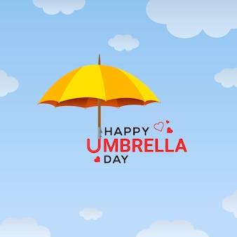 Иллюстрация празднования дня счастливого зонтика