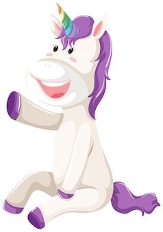 A happy unicorn character