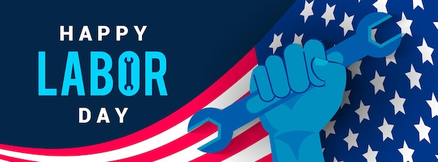 Happy usa labor day banner vector