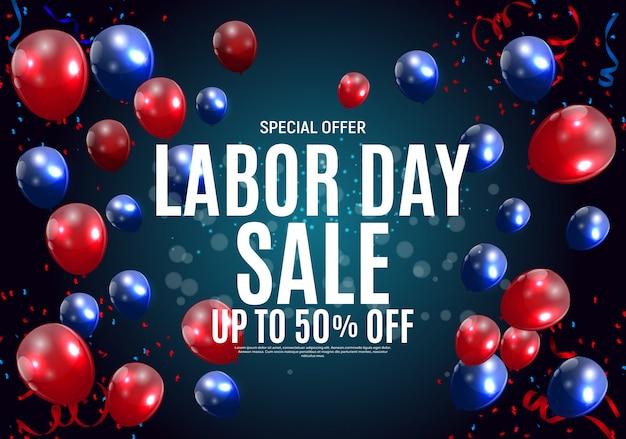 Happy usa labor day sale banner