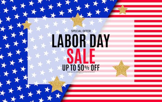 Happy usa labor day sale poster .