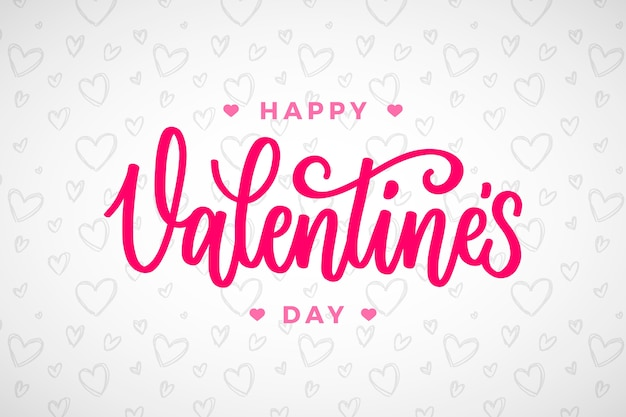 Happy valentiens day lettering design