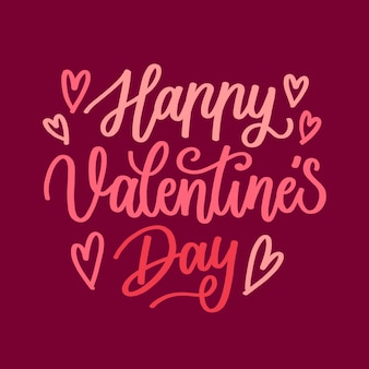 Happy valentiens day lettering