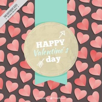 Happy valentine day badge