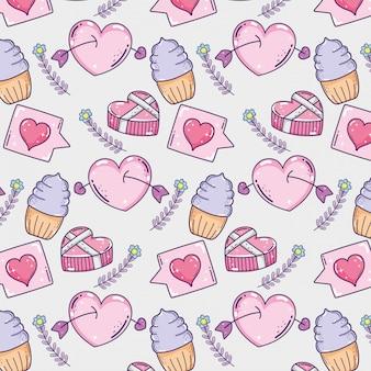 Happy valentine day celebration with decoration background