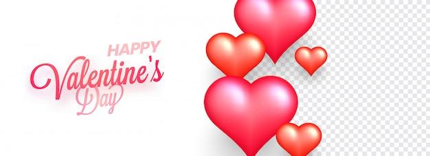 Happy valentine day poster or banner design