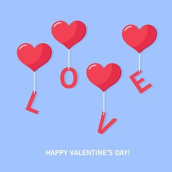 Happy valentine day of vector background