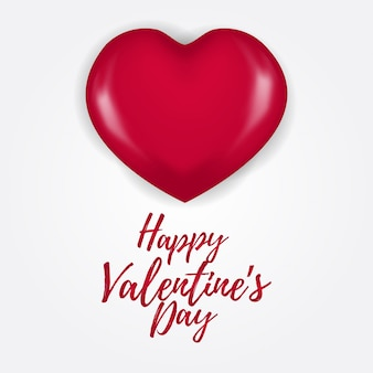 Happy valentine day with 3d hearth balloon