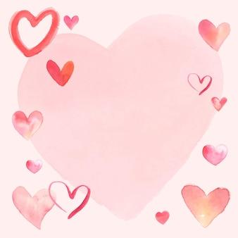 幸せなバレンタインデーのフレームベクトル