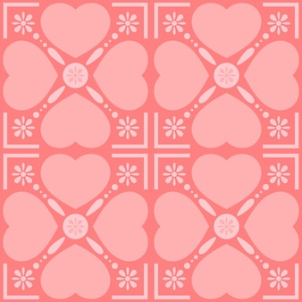 Happy valentine's concept. seamless patterns with hearts.