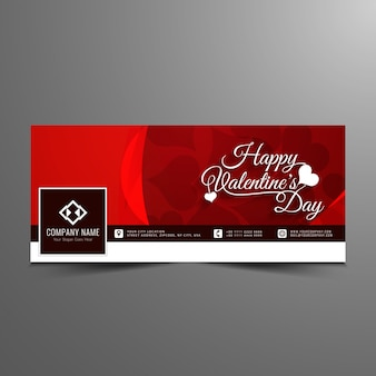 Happy valentine's day acebook timeline banner template