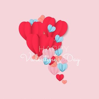 해피 발렌타인 데이 배경 디자인