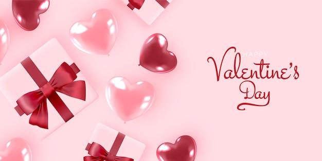귀엽고 사랑스러운 스타일 일러스트와 함께 해피 발렌타인 배경