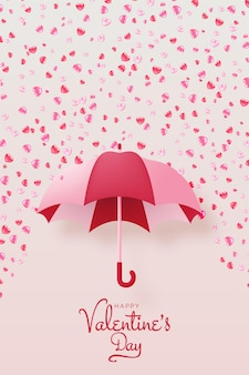 Happy valentine's day background with cute and lovely   style  illustration
