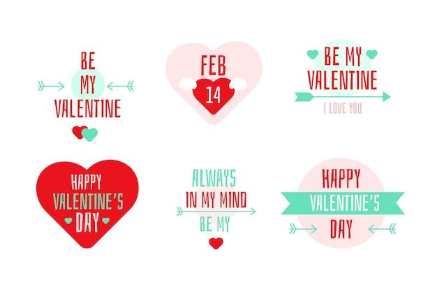 Happy valentine's day badge collection