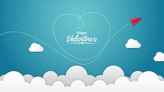Happy valentine's day banner template