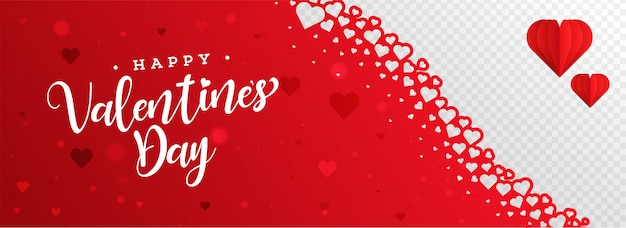 Happy valentine's day banner.
