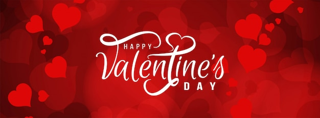 Happy valentine's day beautiful banner template
