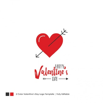 Happy valentine's day card. vector lettering background