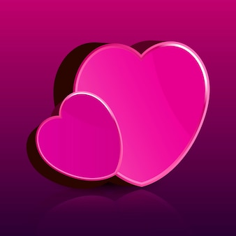 Happy valentine's day card with heart vector illustration