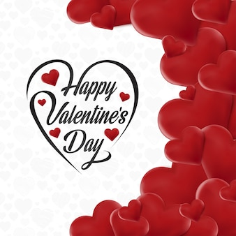 Счастливый день святого валентина карты с сердцем