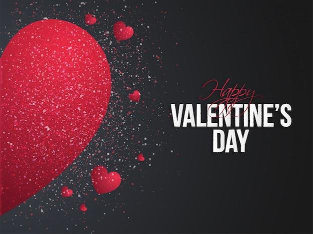 Happy valentine's day concept.