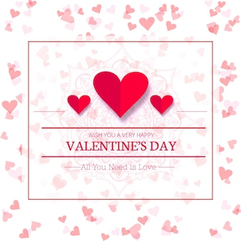 Happy valentine's day creative sale background illustration