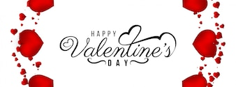 Happy Valentine's Day decorative banner template
