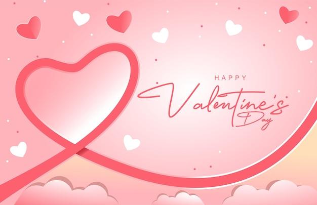Счастливый день святого валентина дизайн фона